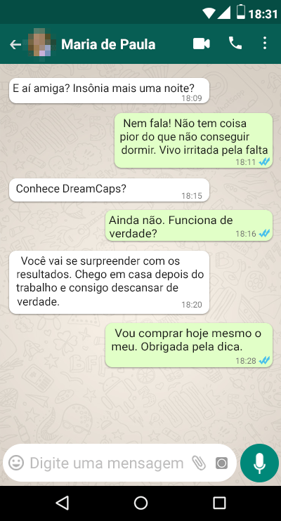 Dream Caps Depoimento 1